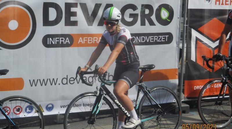 Hannah Mahieu fietste haar allereerste wedstrijd op de Biest